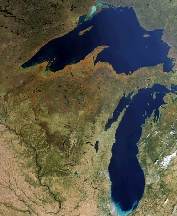 WI from Space, photo by CIMSS University of Wisconsin